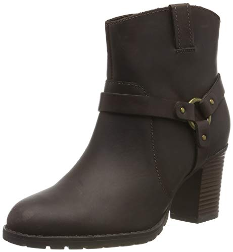 Clarks Damen Verona Rock Schlupfstiefel, Braun (Dark Brown Dark Brown), 38 EU