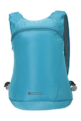 Mountain Warehouse Packaway Rucksack - Leichter Rucksack, kompakter Stauraum, wasserfeste Tasche, versiegelte Nähte, leicht zu Falten - Für Reisen, Einkaufen und Alltag Blau Einheitsgröße