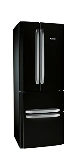 Hotpoint-Ariston E4D AA B C nevera puerta lado a lado - Frigorífico side-by-side (Independiente, Negro, Puerta francesa, 402 L, 470 L, SN, ST, T, No)