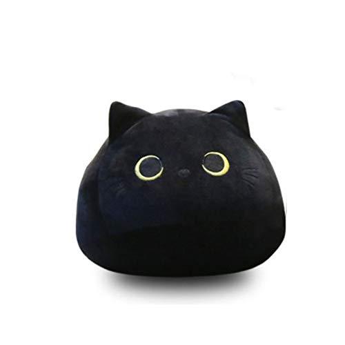 YCSD Black Cats Shape Doll Plush Toy,Cute Black Cat Plush Toy Pillows,3D Black Cat Stuffed Animal Plush Toy Pillow Cute Cat Plush Toys (L)
