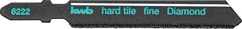 KWB Decoupeerzaagblad voor tegels en keramiek - diamant bestrand, met T-schacht voor veel standaard decoupeerzagen, Made in Germany