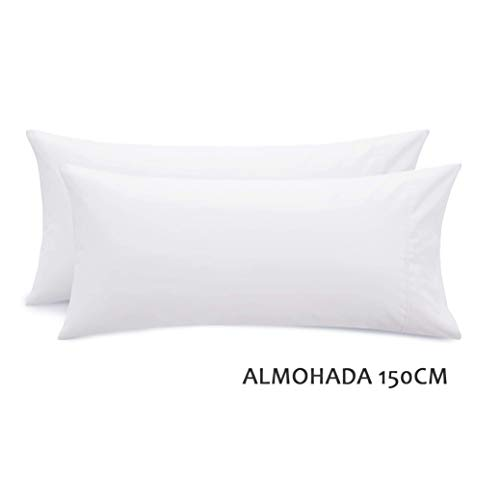 n/s Relleno de Almohada Fibra siliconada Gran Densidad Juego de 2 Unidades de Matrimonio 150CM Super Suave Mullido (Relleno Almohada Matrimino, 150 X 50 CM)