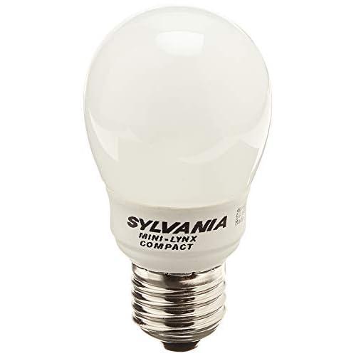 Sylvania Lampadina a risparmio energetico Mini-Lynx Compact Ball, 9 Watt - 9W / E27 / 827