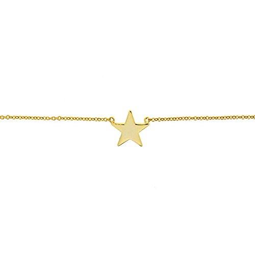 Pulsera Plata Dorada con Estrella