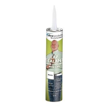 Dicor 551LSW1 White Non-Sag Roof Lap Sealant - 10.3 oz. Tube (20)