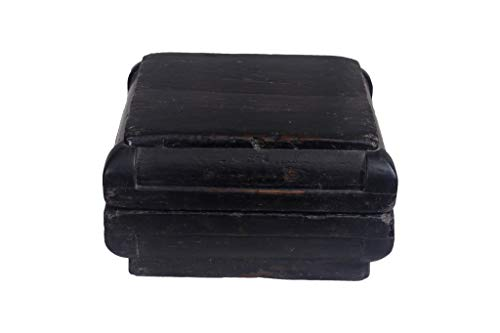 Fine Asianliving Chinesische Aufbewahrungskiste Orientalische Möbel Truhe Holztruhe Dekotisch Truhenbank Massiv Holz Groß Deckel Couchtisch Tischtruhe Sitztruhe Truhe Antik 36 x 20 x 36cm