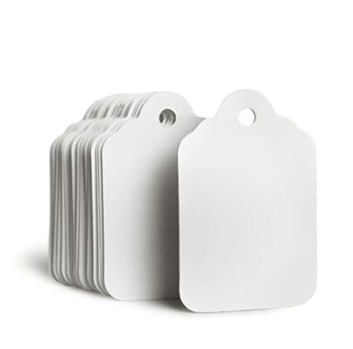 GILLRAJ MILAN White Unstrung Marking Blank Price Tags Size 1.93x 1.25 Pack of 1000 Paper Clothing Hang Tag Clothes Size Name Labels