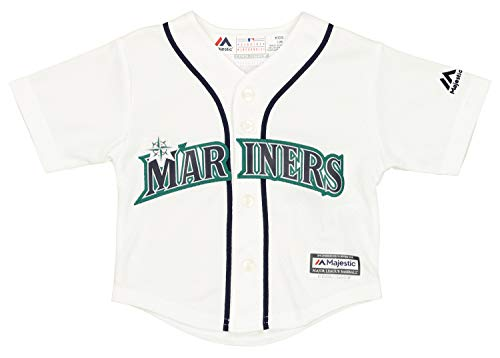 Outerstuff MLB Baby Seattle Mariners Team Finished Home Replica Jersey, 18 Months