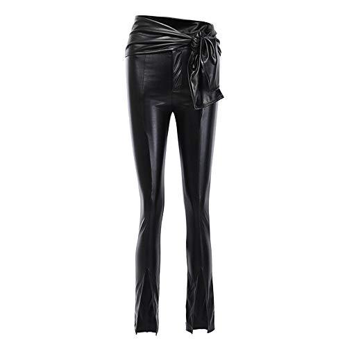 keephen Leggins de Imitación Cuero para Mujeres, Sexy Cintura Alta Delgados Skinny Fit Pantalones Largos Leggings Tallas Grandes