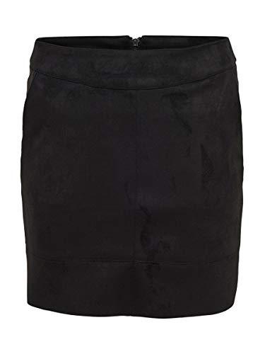 ONLY Damen Onljulie Fauxsuede Bonded Skirt Otw Noos Rock,Schwarz (Black Black) , 40
