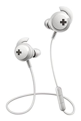 Philips SHB4305WT/00 - Auriculares intraaurales (Bluetooth inalambricos, controlador de 12,2 m, aislamiento de ruidos), color blanco