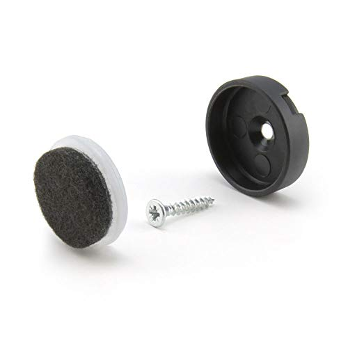 WAGNER Quick Click Natural Komplett Set 25 mm Stuhlgleiter Möbelgleiter System (32)