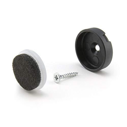 WAGNER Quick Click Natural Komplett Set 20 mm Stuhlgleiter Möbelgleiter System (24)