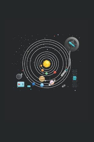Notizbuch: Astronomie Planeten Vinyls Plattenspieler DJ Sonnensystem Notizbuch DIN A5 120 Seiten für Notizen Zeichnungen Formeln | Organizer Schreibheft Planer Tagebuch