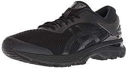 ASICS Men's Gel-Kayano 25 Running Shoes, 10.5M, Black/Black