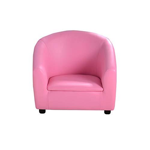QSLS Los niños de sofá Asientos de sillón, Taburete de Lectura de los niños, Adecuado para niños y niñas de 1-8 años de Edad,Rosado