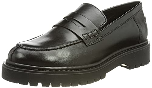 Geox Damen D BLEYZE B Loafer, Black, 37.5 EU