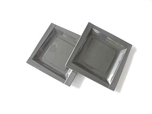 ILIP pZ 100 Assiette Noir Black carré cm 20.5 x 20.5 en Plastique Alimentaire Cocktail Happy Hour Flat Plastic Blacks