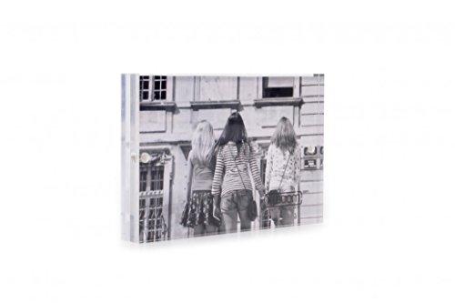 XLBoom Cadre photo magnétique en acrylique Transparent 13 x 18 cm