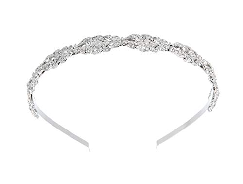 Brautschmuck Haarband Blumendesign Strass Kristall Hochzeit Stirnband Brautschmuck Kopfschmuck einfaches Design täglicher Haarschmuck