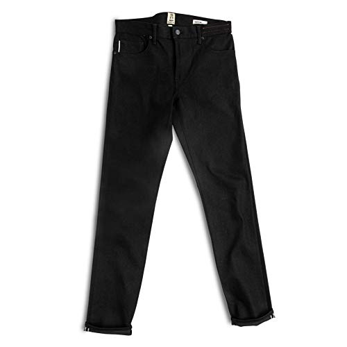 HIROSHI KATO Slim fit Jeans The Pen Black Raw 10.5 oz 4-Way Stretch Selvedge Denim