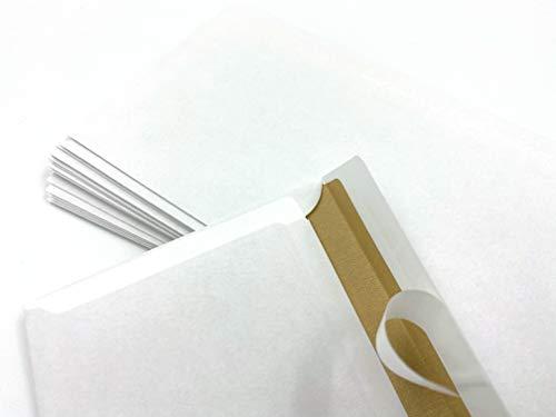 """100 Briefumschläge,\""""Naturelle\"""" = Altweiß, DIN lang = 220 x 110 mm, Haftklebestreifen, mit braunem Innendruck, ohne Fenster"""