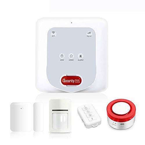 Smart Home Anti-Diebstahl-5-teiliges Kit, Wireless-LAN Home Security Alarmanlage, drahtlose intelligente Einbrecher Sirene Alarm-System für Haus, Büro, Hotel