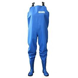 3Kamido® Waders pour Femme Cuissardes de pêche, Pantalons avec Bottes, Poitrine de Pêche, Vert et Bleu, 36, 37, 38, 39…