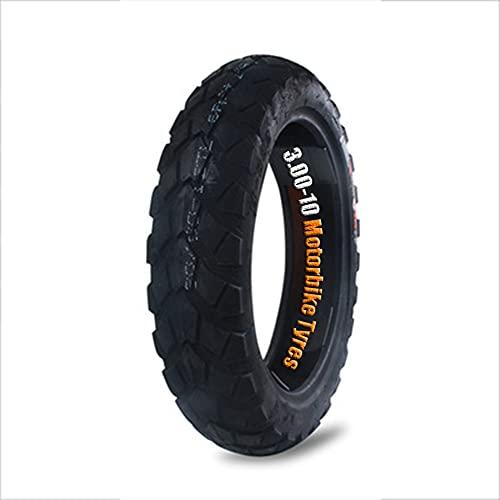 HSYXTS 1 Pieza 3.0 x 10 Pulgadas Neumáticos Frontal Posterior Neumáticos de Vacío contra Pinchazos para MTB Montaña Fuera del Camino Hibrida Bici Bicicleta (Paquete de 1 Negro)