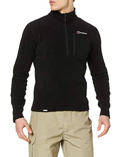 Berghaus Prism Micro Polartec Demi-Zip Haut en Polaire Homme Noir FR : 2XL (Taille Fabricant : 2XL)