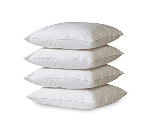 Apiando - Juego de 4 cojines de algodón de 45 x 45 cm, juego de calidad prémium, relleno para cojín decorativo, almohada, cojín de sofá, lavable a 60 grados