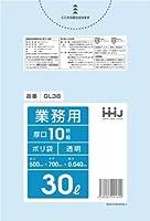 【5ケース特価】HHJ 業務用ポリ袋 30L 半透明 0.040mm 500枚×5ケース 10枚×50冊入×5 GL38