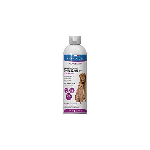Francodex-500 ml Champú antiparasitario Dimeticona para Perros y Gatos, FR-172467