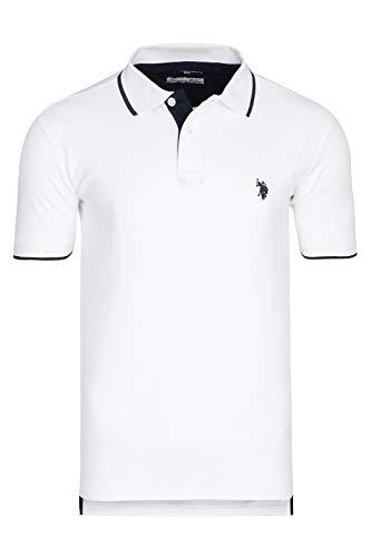 U.S. Polo Assn. Shortsleeve Polo Shirt Herren Polo-Shirt Polohemd Weiß 197 4260851887 100, Größenauswahl:XL