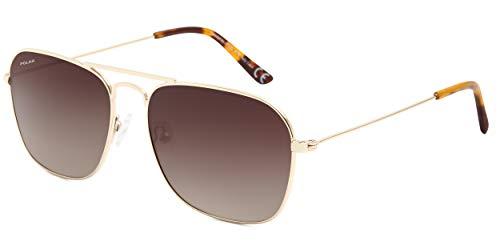 Polar sonnenbrille Unisex Aviatorpolarisiertes Gold (P88302/R)