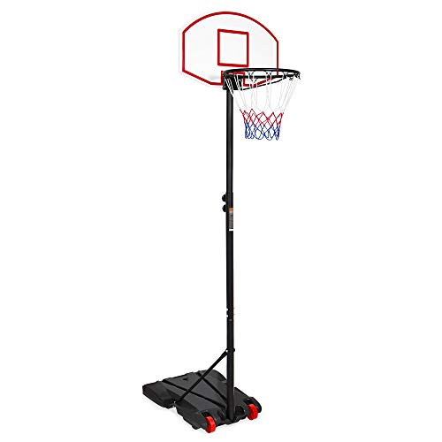 Best Choice Products Kids Portable Basketball Hoop w/Adjustable Height, Backboard and Wheels