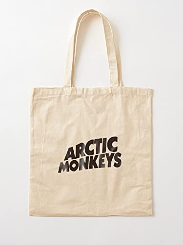 Monkey Retro Album Musik Slow Monkeysarctic Tape Arctic   Einkaufstaschen aus Leinen mit Griffen, Einkaufstaschen aus robuster Baumwolle