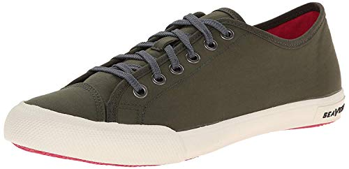 SeaVees womens 08/61 Army Issue Low Nylon Fashion Sneaker, Olive, 8.5 US