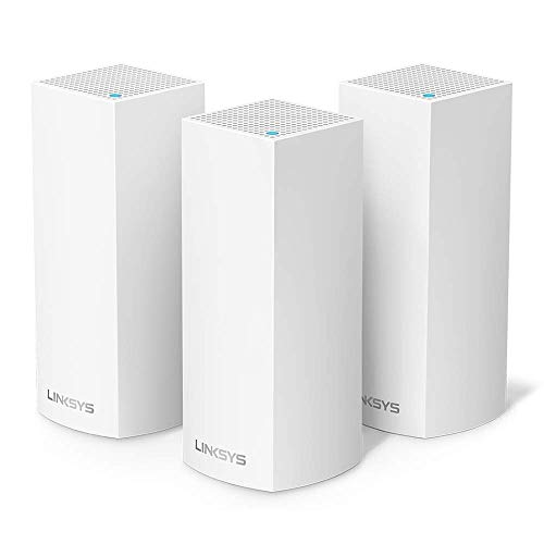 Linksys Whw0303-Eu Velop Multiroom Intelligent Mesh Wi-Fi-Systeem, Tri-Band, 6.6 Gbps, Wit, 3 Stuk