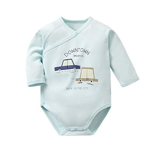OTGRFS Mono para bebé Mono Pijamas para niños y niñas Mono de una Pieza Manga Larga algodón 0-15 Meses,blue2,59CM