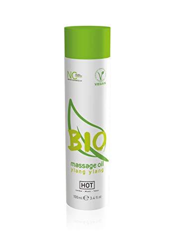 HOT Bio Massageöl Yang Ylang, Biologisch & Vegan. Mehr spass & erotik bei der Partnermassage! 100 ml