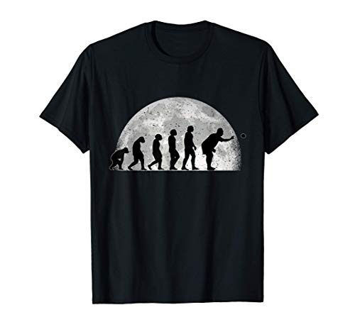Boccia Evolution Mond Bocciakugel Boulespieler Boule T-Shirt