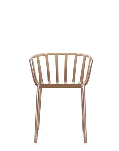Kartell 5806/29 Venice Chaise - Polycarbonate - Lot de 2 Chaises - 51x75x51 cm - Tourtorelle