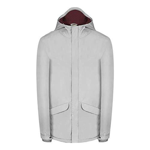 Bleed Herren Plantbased Mantel, Light Grey, XL
