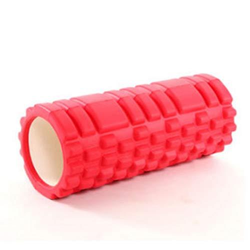 Chinashow Yoga Column Foam Shaft Hohl High Density Yoga Column Selbstmassage-Tool für Fitnessstudio Ideal für Pilates-Übungsroller, Rot