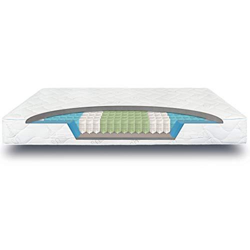 verapur Ortho Plus Taschenfederkernmatratze 180 x 200 cm H3, 7-Zonen Matratze, Tonnentaschenfederkernmatratze, waschbarer Bezug, Öko-Tex, 23 cm hoch