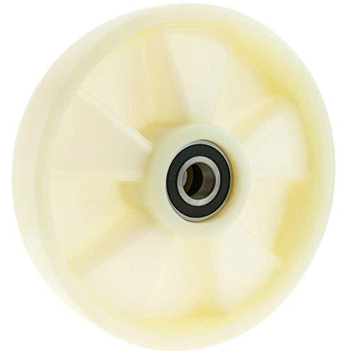 PrimeMatik - Paletten Fixierer Rad für Hubwagen Nylon Rolle 180x50 mm 800 Kg 2-Pack