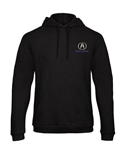 Acura Embroidered Unisex Hooded Sweatshirt Hoodie Really Premium Quality - 7104 (L) Black