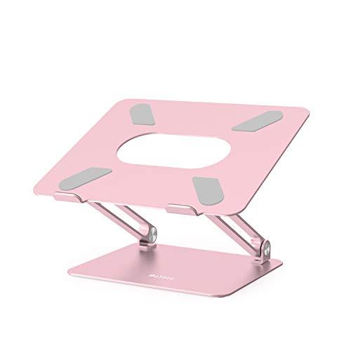BoYata Laptop ständer: Multi-Angle-Standfuß mit Heat-Vent, Aluminium Einstellbares Notebook ständer kompatibel für Laptop (10-17 Zoll), einschließlich MacBook Pro/Air, Surface, Samsung, HP(Rosa