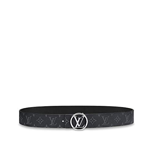 Louis Vuitton LV Circle 40mm Reversible Belt Black Grey (90 cm)